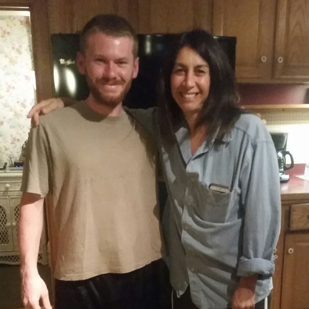 A picture Eric took of me and Marni after I cleaned up and put on some hiker clothes.