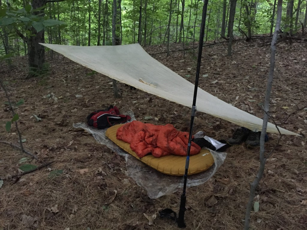 Homemade cuben fiber tarp, ZPacks, Grayson Cobb, Appalachian Trail