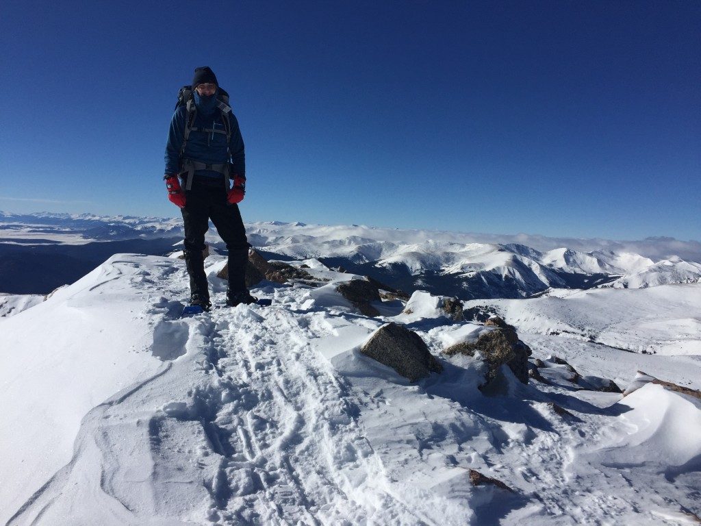 Mt. Bierstadt summit winter