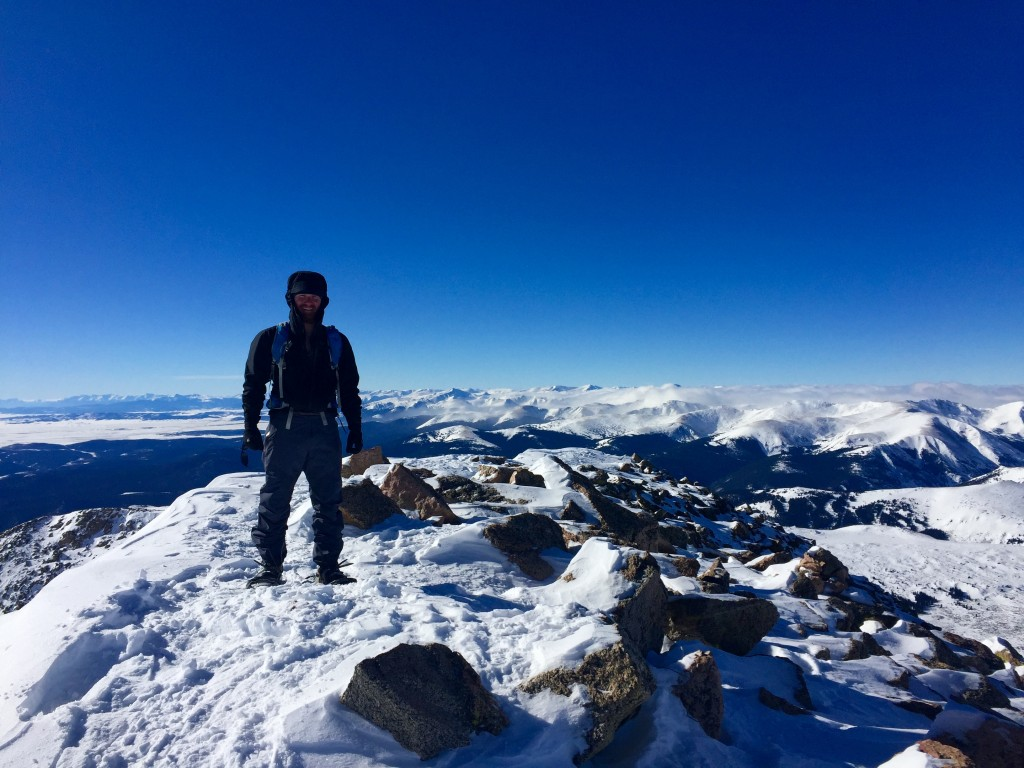 Mt. Bierstadt, Colorado 14er winter