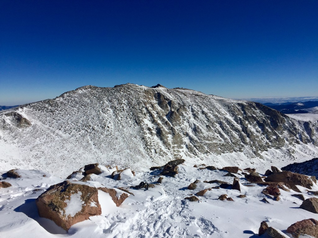 Mt. Evans from Mt. Bierstadt winter