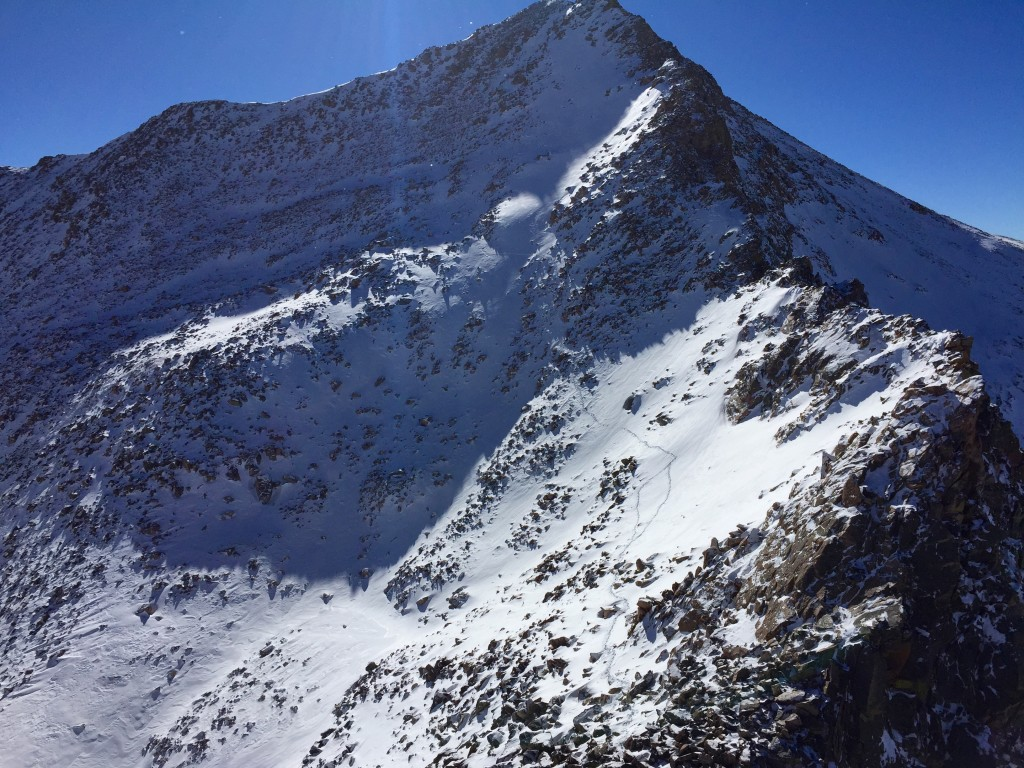 Mt. Bierstadt, Colorado in the winter