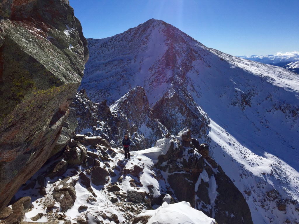 Bierstadt, Sawtooth, Evans traverse winter