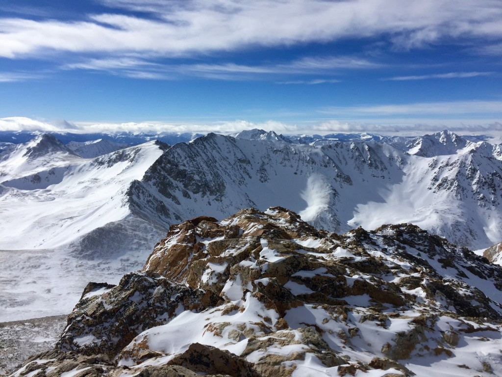 Mt. Missouri winter 14ers couloirs