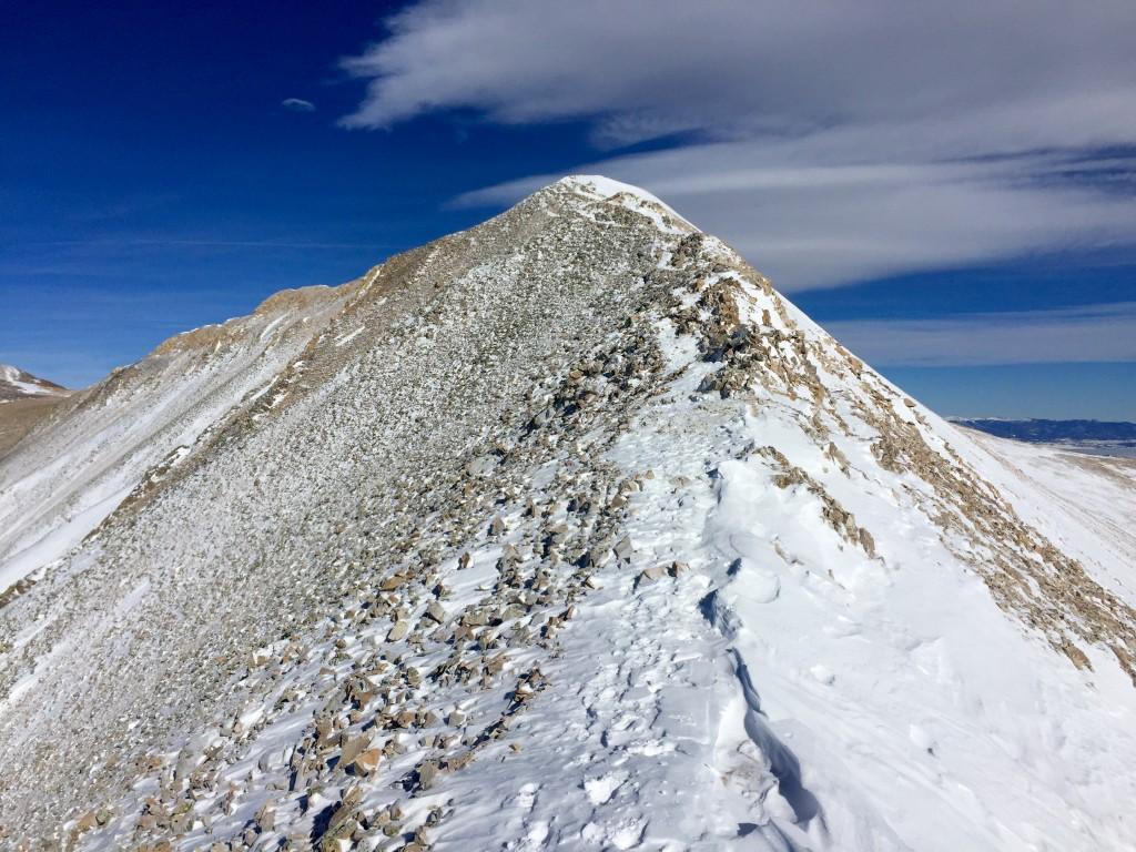 Mt. Sherman winter summit