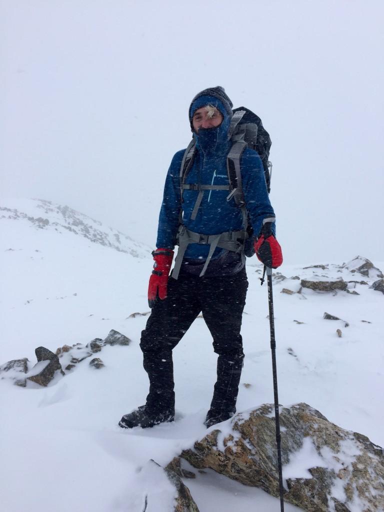 La Plata Peak summit winter