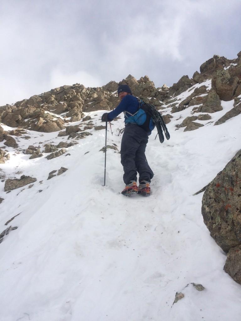 Gaining the ridge La Plata Peak