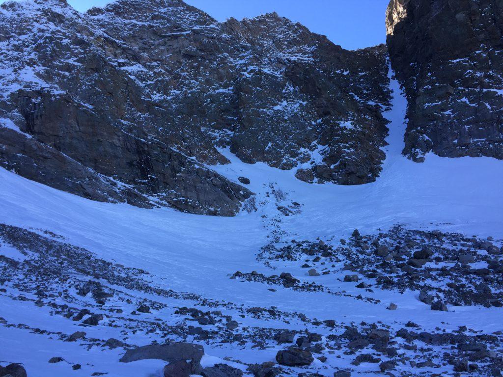 Climbing Taylor Glacier, Loch Vale, Sky Pond, Rocky Mountain National Park