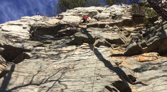 Climbing at Pilot Mountain