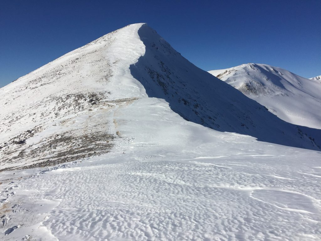 Cornice Grays and Torreys winter 14er colorado