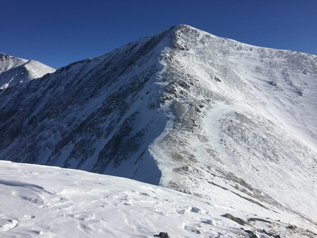 Grizzly Peak Colorado winter 14er Grays and Torreys