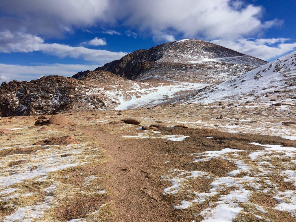 Pikes Peak colorado Crags Campground winter 14ers