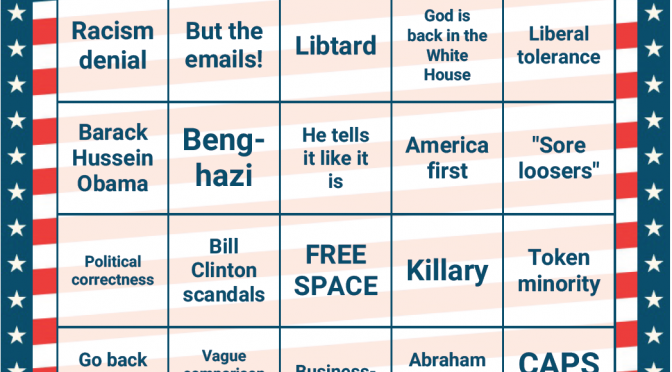Trump BINGO, apologist edition