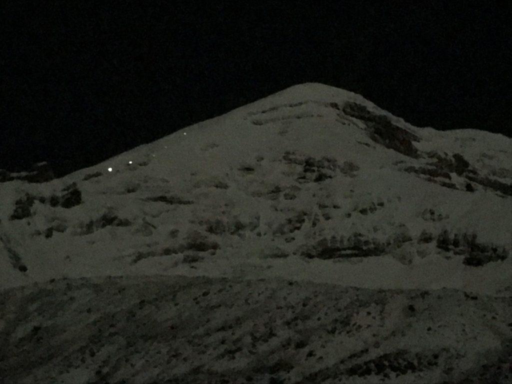 Climbers headlamps chimborazo