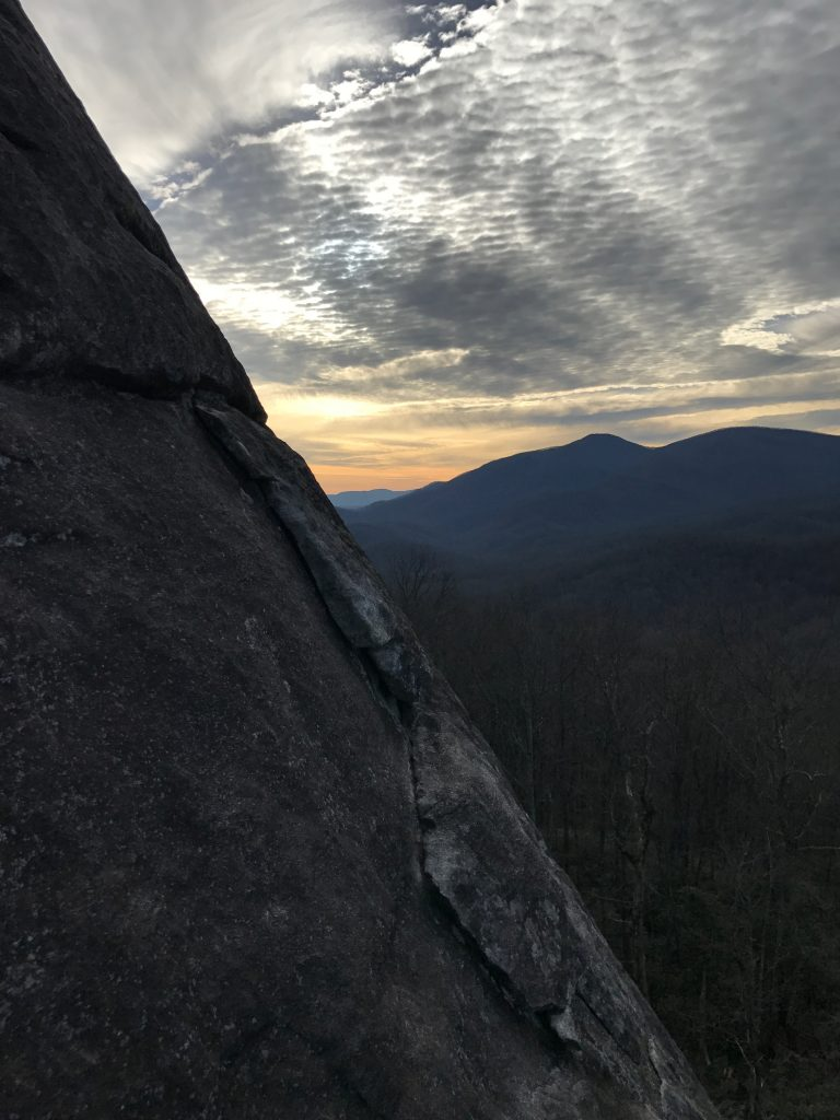 The Nose second pitch looking glass rock sunset