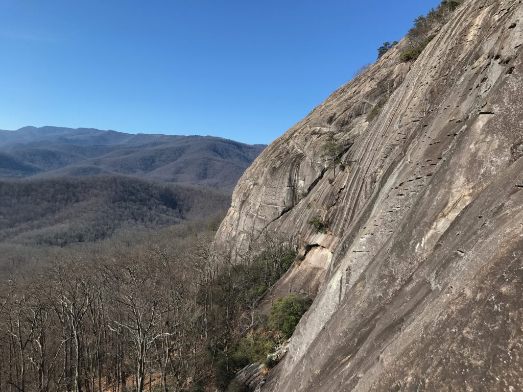 Gemini Crack view looking glass rock climbing