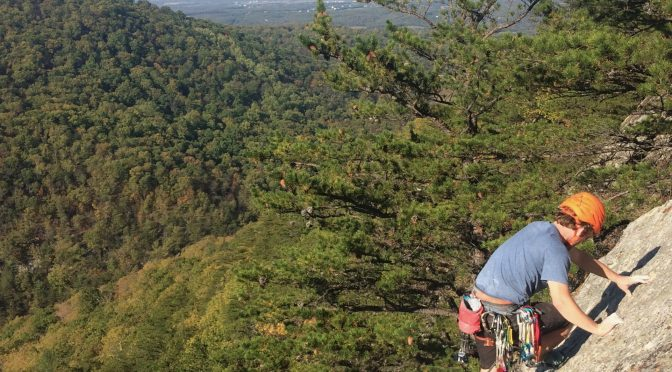 Rock climbing Buzzard Rocks, Elizabeth Furnace