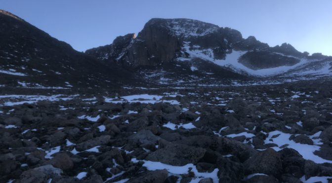 Longs Peak Winter Cables Route Summit